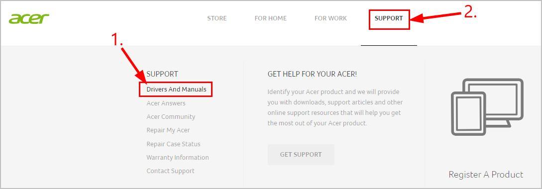 acer global download