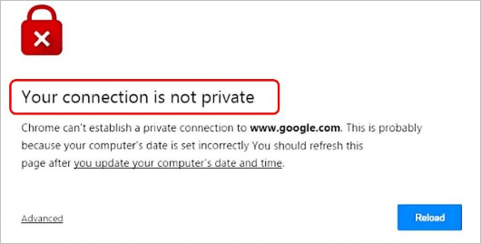 Step by Step Fix Your connection is not private Error in Chrome