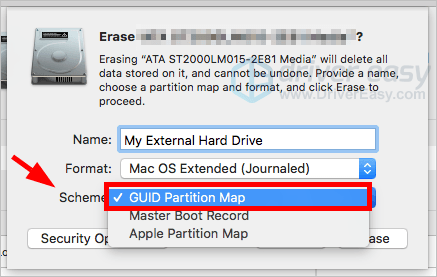 Madison : External hard drive partition map