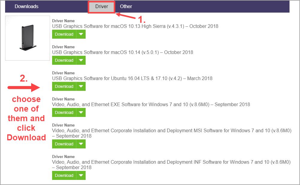 DOWNLOAD] Update Targus DisplayLink Drivers in Windows 10/8