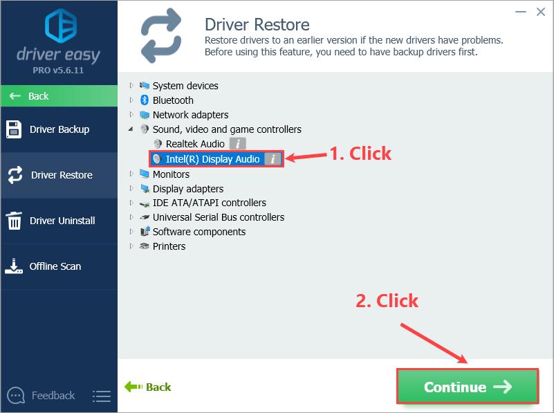 Driver Restore - Driver Easy
