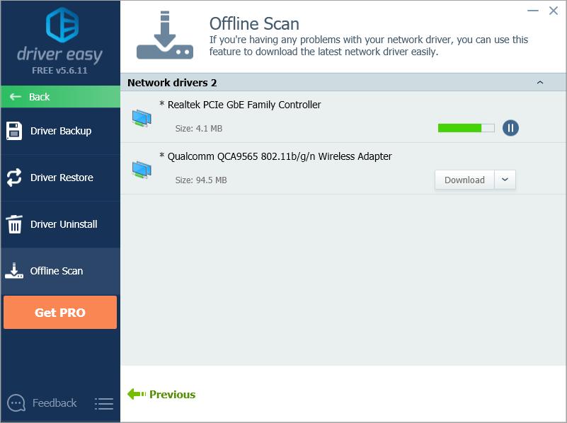 Offline Scan - Driver Easy