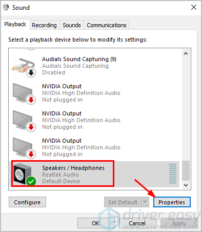 Instantly Fix Your Computer No Sound Issue on Window 10 - Driver Easy