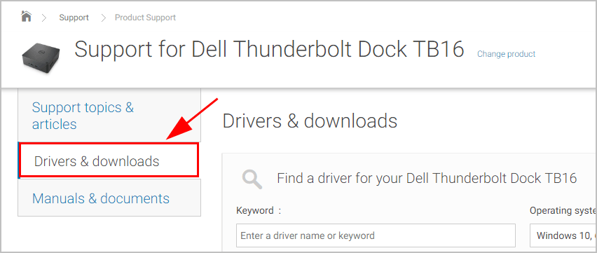 Dell Thunderbolt Dock TB16 Drivers Download & Update