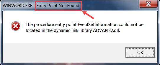 Fixed Entry Point Not Found Error In Windows Driver Easy