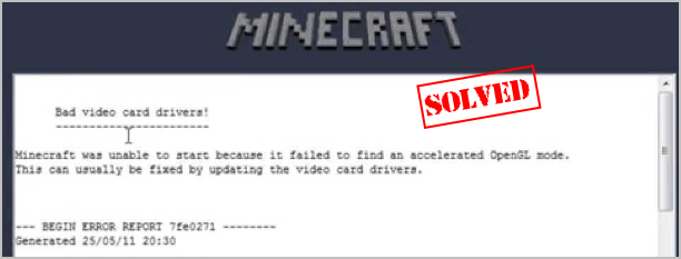 How To Fix Minecraft Opengl Errors Driver Easy