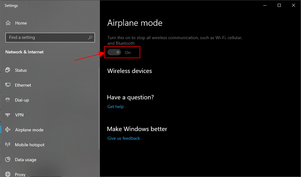 Solved Windows 10 Stuck In Airplane Mode Driver Easy