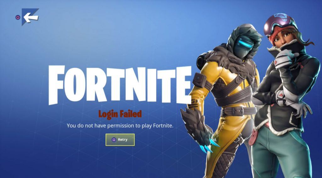 Fixed You Do Not Have Permission To Play Fortnite Error 2020 Driver Easy Любая steam вконтакте origin uplay social club fortnite instagram battle.net epic games world of tanks supercell. have permission to play fortnite error