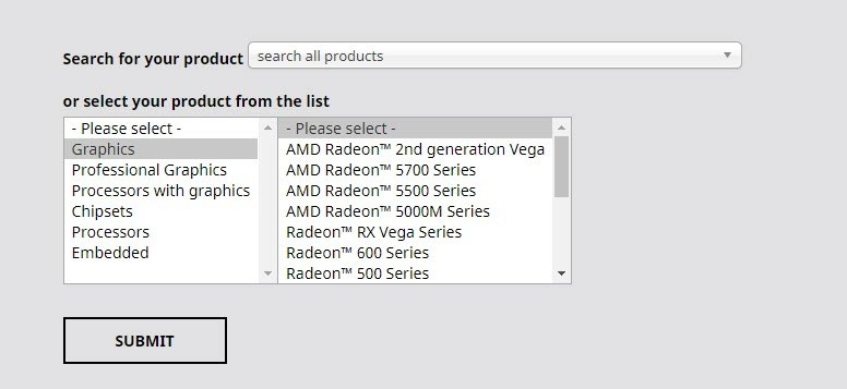 AMD driver download