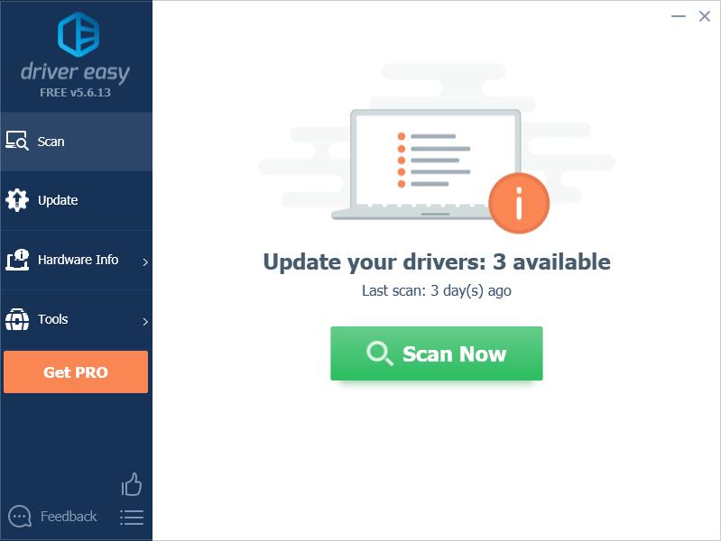 Driver Easy - Scan now