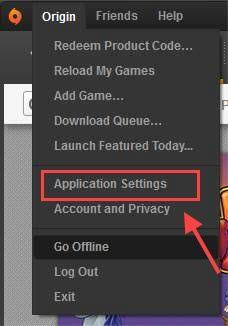 Click origin menu