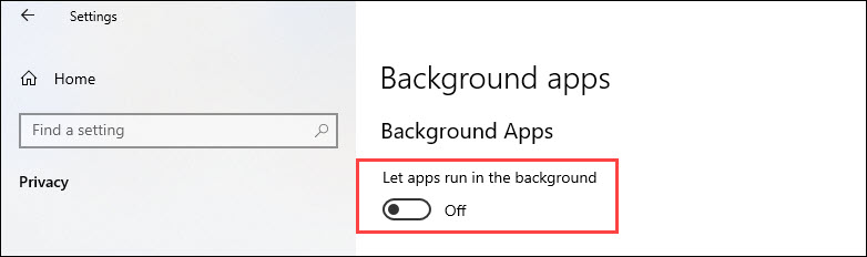 stop apps from running in the background