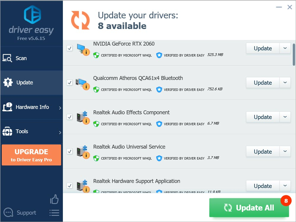 update drivers automatically
