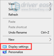 reset screen resolution