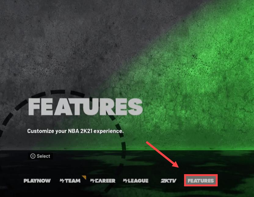 set the language into English NBA 2K21 Green Glitch