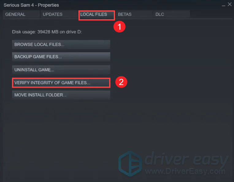 verify game files serious sam 4 crash or shutter