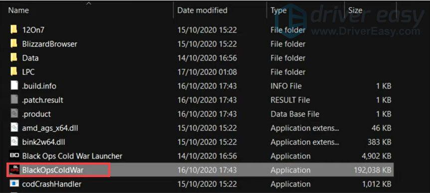 BlackOpsColdWar application