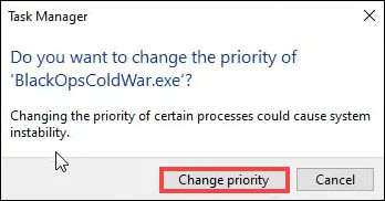 change priority call of duty black ops cold war