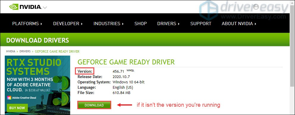 download NVIDIA graphics drivers