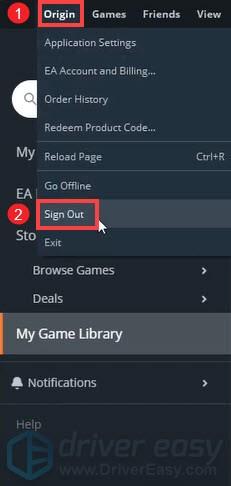 repair game files on Origin
