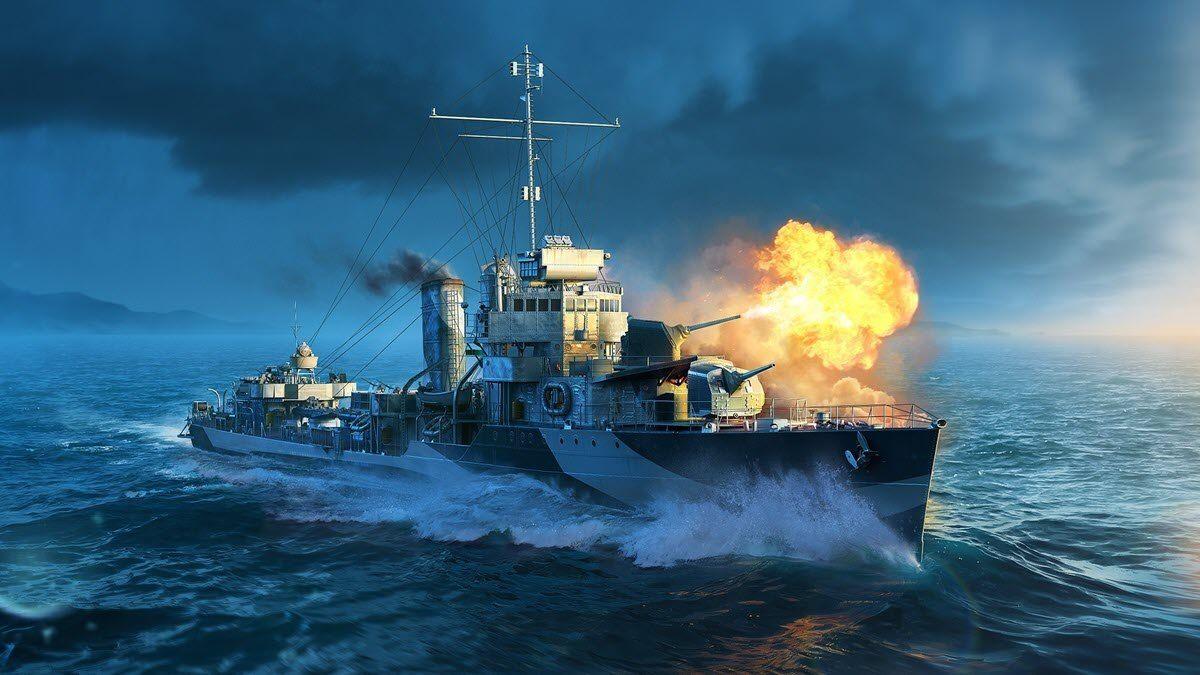 world of warships crashing