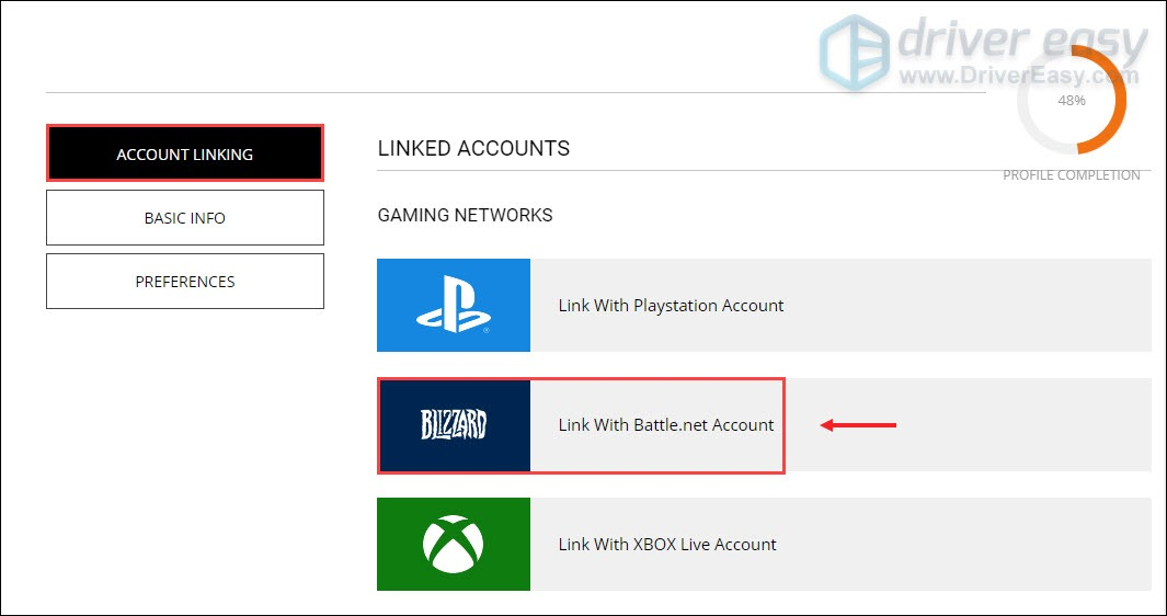 link with Battle.net account