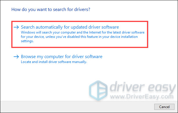 manually update drivers