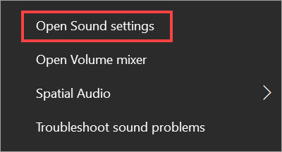open sound settings