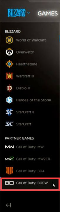 the-game-call-of-duty-in-Battle.net-launcher