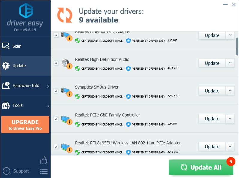 update network adapter driver automatically