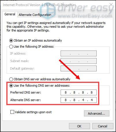 Google DNS server addresses