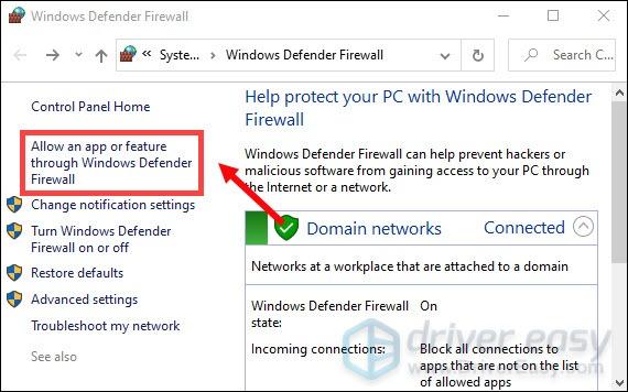 allow call of duty black ops cold war through windows defender firewall