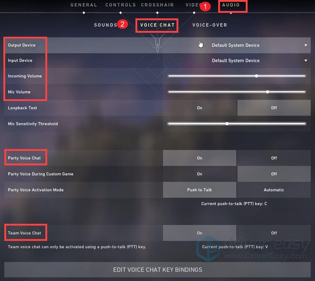 change VALORANT's audio settings