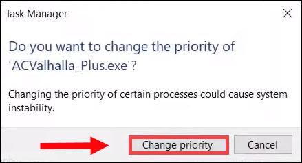 change priority ACValhalla