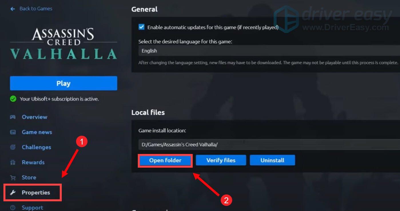 disable fullscreen optimizations fix Assasin's Creed Valhalla stuttering