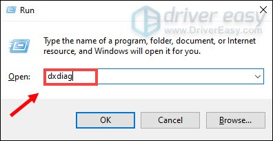 how to check system infor open DirectX Diagnostic Tool