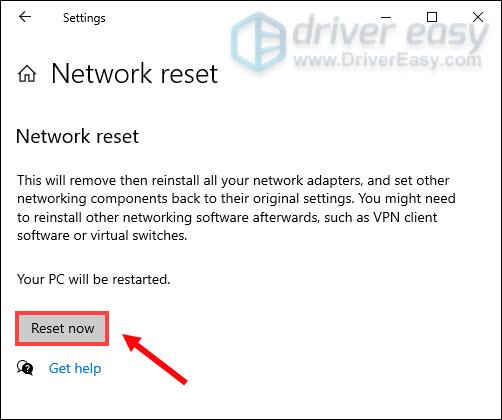 reset network settings cold war  error code blzbntbgs000003f8