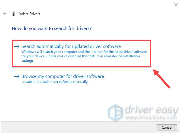 update graphics card driver using the Device Manager