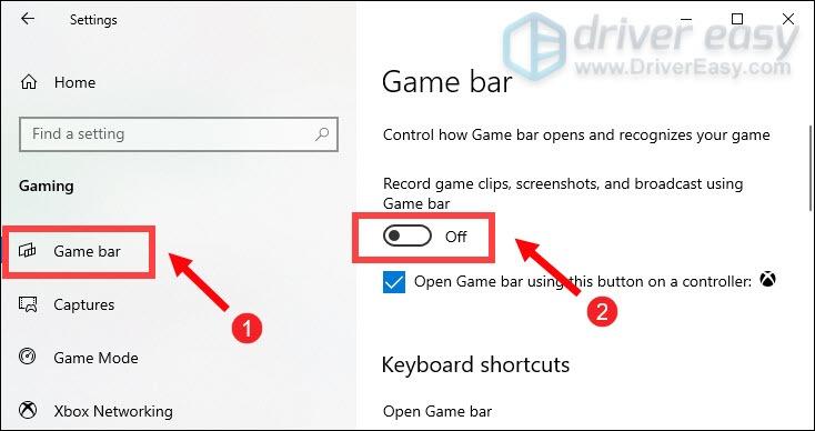 turn off game bar