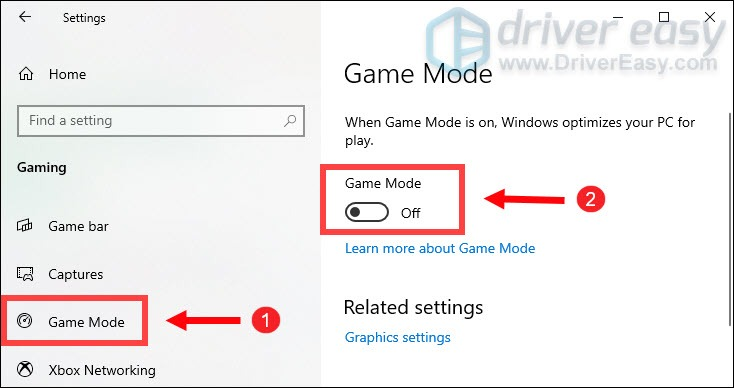 turn off game mode