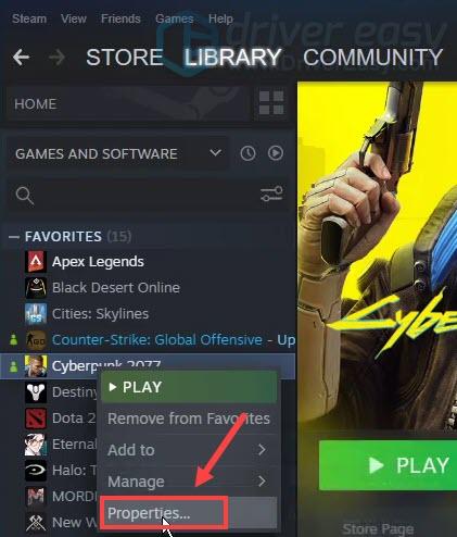 verify integrity of game files Cyberpunk 2077