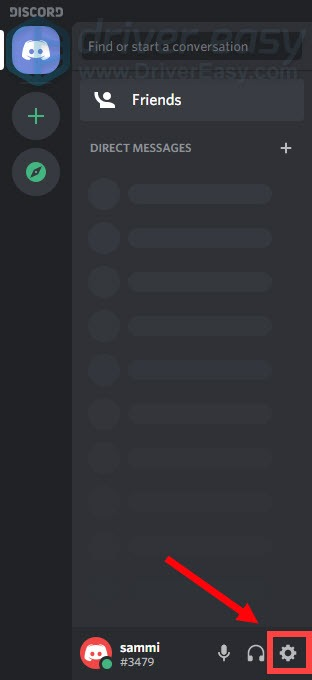 open Discord settings