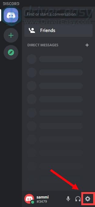 open Discord settings