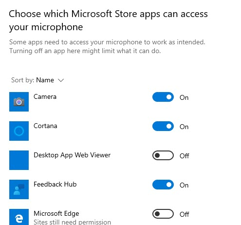 choose apps to allow