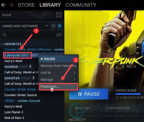 uncheck bonus content under DLC to fix Cyberpunk 2077 download stuck