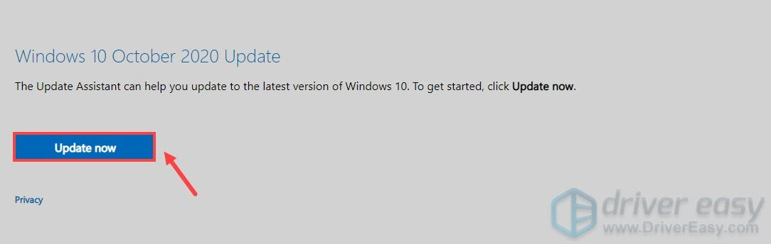 download Windows updates assistant to update windows