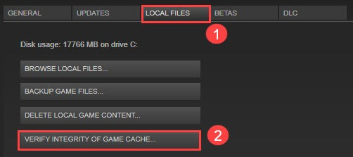 Verify integrity of game files...