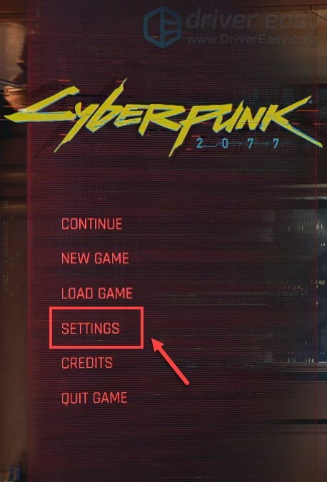 Cyberpunk 2077 settings