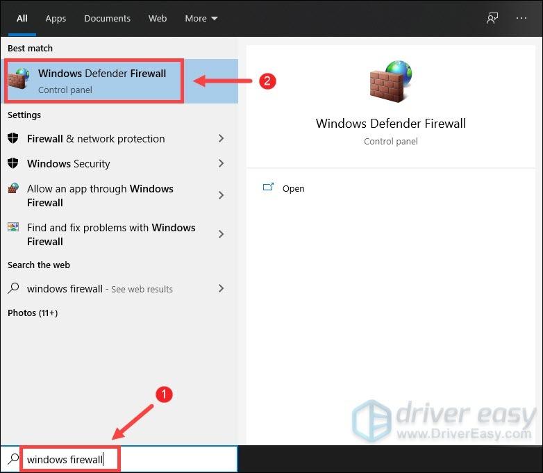 allow Cyberpunk 2077 through Windows Defender Firewall
