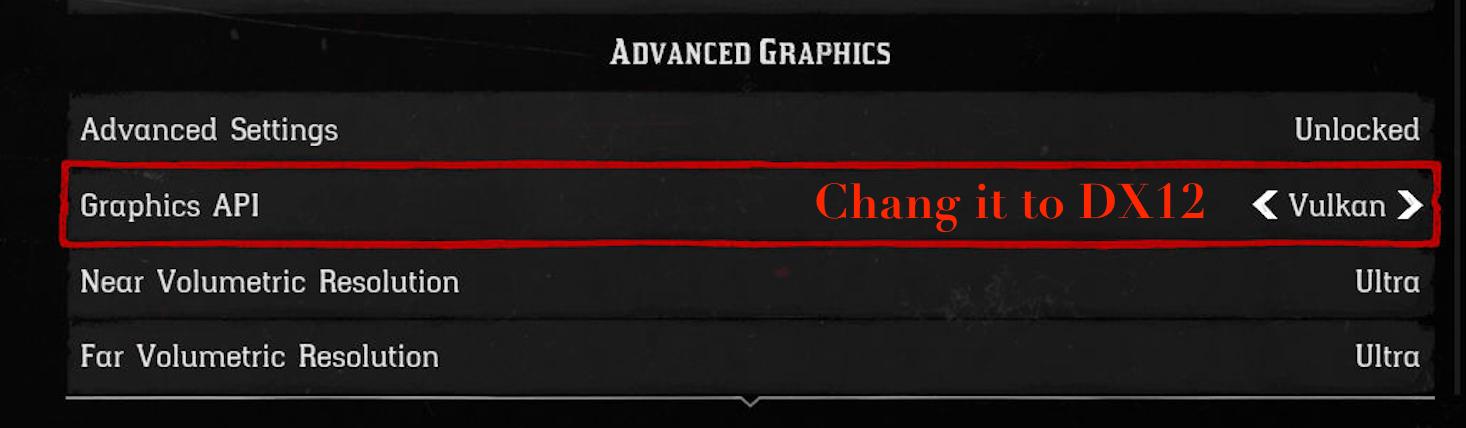 change Vulkan to DX12